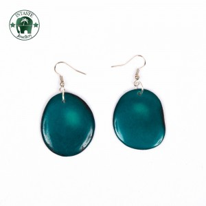 Earrings E01, teal